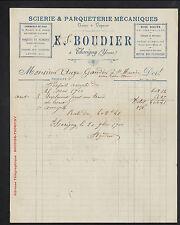 """THORIGNY-sur-OREUSE (89) SCIERIE & PARQUETERIE """"S. BOUDIER"""" en 1900"""