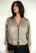 $6925 GIORGIO ARMANI Floral LACE LUREX Formal Cocktail Jacket Blazer 38 US-2/4