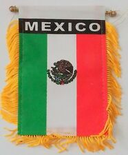 Mini Banner Mexico Mexican Flag Car Mirror Decoration Hanging New