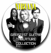 115 x NIRVANA GUAM METAL ROCK GUITAR schede tablature SONG BOOK CD software