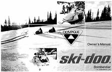 Ski-Doo owners manual book  1971 Olympique Series