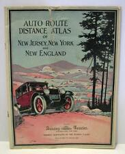 Vtg c.1924 Maps: Auto route Distance Atlas of New Jersey/New York/New England