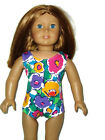 """Colorful Flowers Leotard fits American 18"""" doll clothes Girl Gymnastics"""
