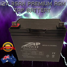 BRAND NEW 12V 35Ah Premium AGM ZAP Battery for Scooter, Golf Cart**