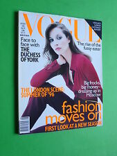 VOGUE British UK fashion magazine August 1996