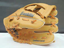 """FRANKLIN BASEBALL SOFTBALL FIELD MASTER 9.5"""" YOUTH HAND GLOVE 4609 LEATHER LACED"""