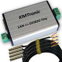 KMtronic LAN DS18B20 WEB Digital Temperatur Monitor 4 Sensors (1 meter Cable)