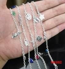 NEW Wholesale lots 5pc LF Silver Mixed Pendants Anklets Chains 8""