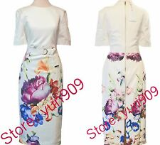 Ted Baker London Pale Yellow Aldora Floral Print Dress Size 5 (US 12) $295