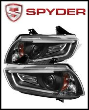 Spyder Dodge Charger 11-14 Projector Headlights Xenon/HID- Light DRL Blk