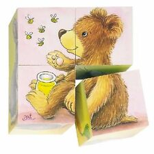 """WOODEN PICTURE CUBE PUZZLE """"BABY ANIMALS"""" DESIGN"""