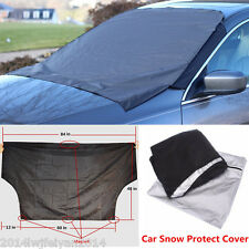 Auto Car Windshield Cover Snow Ice Frost Protector Sun Shield Magnetic Tarp Flap