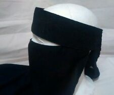 ORIGINAL SAUDI JET BLACK SINGLE LAYER  NIQAB/JILBAB/ABAIYAH