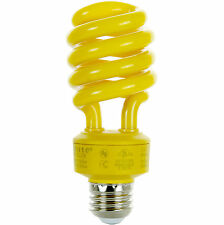 24 Watt Yellow Bug Light Spiral CFL Bulb E26 Medium Base. FREE SHIPPING US!!!