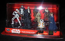 "Star Wars DISNEY STORE DELUXE FIGURINE PLAYSET OF 10 Force Awakens 3.75"" Figures"