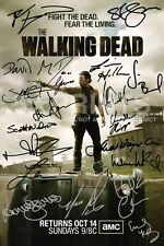 "SIGNED PP by 19 THE WALKING DEAD PRISON NORMAN REEDUS 12x8"" POSTER PHOTO GIFT"