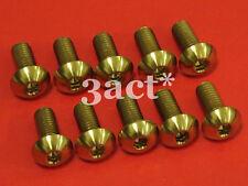 10pcs M5 x 12mm Gold Titanium/Ti Bolt fit Bontrager FSA Elite Carbon Bottle Cage