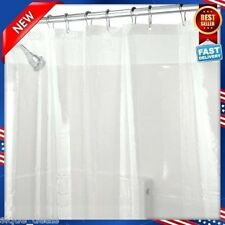 NEW Shower Curtain Liner Duty Mildew Mold Antibacterial Bath Clear Resistant UPS