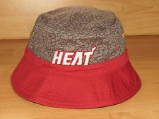 Mitchell & Ness MIAMI HEAT BUCKET CAP HAT MENS SIZE S/M - E-PRINT