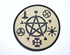 Wicca Pentagram Pentacle Star Iron-On Embroidered Patch Witch Occult Black Magic