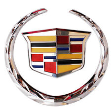 Front Chrome Grille Wreath&Crest Emblem Badge Car For Cadillac 5.75*6.25 inch US