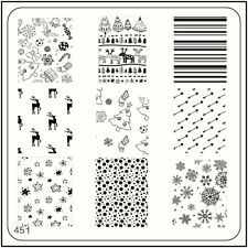 MoYou Nail Fashion Square Image Plate 451 Xmas Style Stamping Template