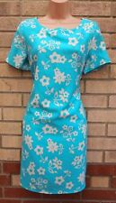 APRICOT TURQUOISE WHITE FLORAL SMOCK TUBE FORMAL SHIFT TUNIC RARE DRESS 12 M