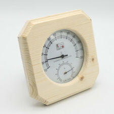 Single Sauna Wooden Hygrothermograph Thermometer Hygrometer Sauna Room Accessory