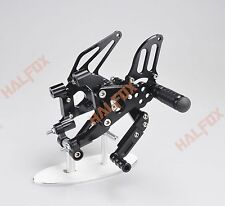 Black cnc Rearset Foot pegs Rear set for Ducati Panigale 1199 S/R 2012-2013