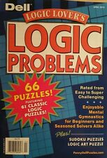 Dell Logic Lover's Logic Problems 66 Puzzles Enjoyable April 2015 FREE SHIPPING!