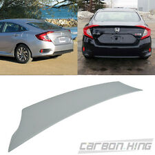 Unpaint HONDA Civic 10 Sedan DX EX Rear V-Style Trunk Lip Spoiler Wing 2016up