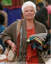 "Judi Dench Colour 10""x 8"" Signed Exotic Marigold Hotel Photo - UACC RD223"