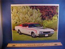 "new 1969 Mercury Cyclone Spoiler ""Cale Yarborough Special"" calendar art w/backer"