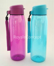 Tupperware 2X Eco Water Bottle Flip Top 750ml Purple Green Free Shipping