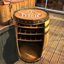 "Recycled Solid Oak Whisky Barrel TYSKIE ""Balmoral"" Drinks Wine Rack"