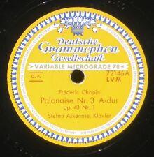 Chopin Polonaises 2 & 3 Stefan Askenase  78 RPM / 78 trs