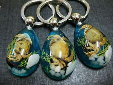 12 pcs real crab insect specimen jewelry blue color drop keychain