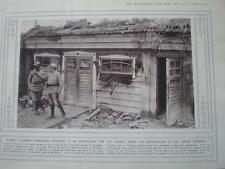 WW1 Photo Tahure Trenches (Marne) command hut 1915