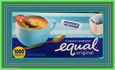 Equal 1000 Count Sachets Packets  FREE SHIPPING* 0 CALORIE Sweetner