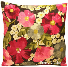 Harlequin Hermosa Fuschia & Slate Impasto Floral Cushion Cover 16""