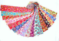"""17 2.5"""" Quilting Fabric Jelly Roll Strips Retro Flower Power !!!"""
