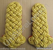 Shoulder Board All Gold Wire Cord Red Backing R798