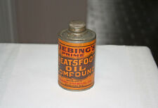 Vintage Fiebing Prime Neatsfoot Oil Compound Advertising Tin Milwaukee Wisconsin