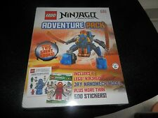 NEW Lego Ninjago Adventure Pack With 2 Books, Jay Nanomech Model & 500 Stickers