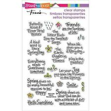 New stampendous RUBBER STAMP clear Acrylic  SPRING SENTIMENTS EASTER