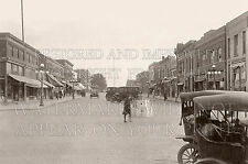 Manning Iowa IA brick Main Street downtown 1923 photo stores cars shoppers city