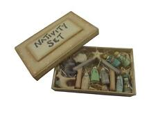 East of India Miniature Nativity Set -Christmas Nativity Decoration -Hand carved
