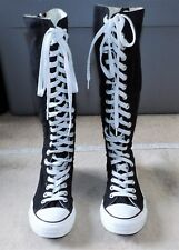 CONVERSE CHUCK TAYLOR ALL STAR KNEE HIGH BLACK LACE UP SHOES WOMEN SIZE 6