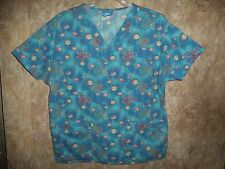CREST SPIDERS, WEBS, SCRUB TOP SIZE XL (2 POCKETS) STYLE 5109