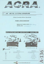 Acra JIH Fong, JF-15 JF-18, Milling Machine, Operation Parts & Electric Manual